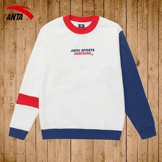 安踏 男士运动卫衣潮 15948706 白色/蓝色/红色 S