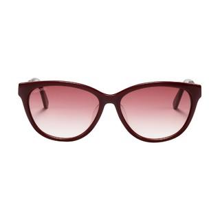 SWAROVSKI 施华洛世奇 女士时尚优雅全框太阳镜0131 枣红色