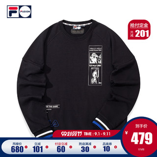 FILA FUSION斐乐男子卫衣2020秋季新款运动潮流针织套头衫男卫衣
