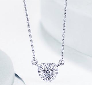 I Do  NXS00204 心扉系列 女士18K金钻石项链
