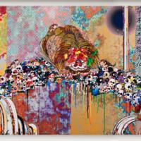村上隆限量版画狮子横幅大尺寸胶版版画限量300版横幅早期代表作品