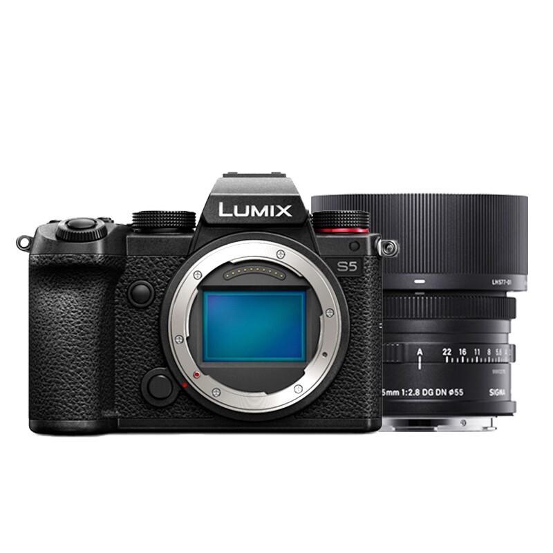 双11预售 : Panasonic 松下 LUMIX S5 全画幅微单相机 套机(适马 45mm F2.8)