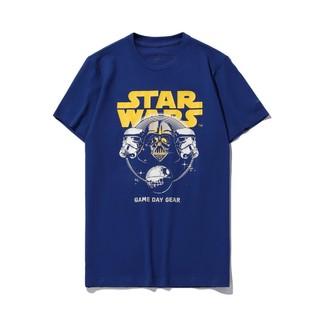 LI-NING 李宁 男士印花宽松短袖T恤AHSQ459-2 深蓝色S