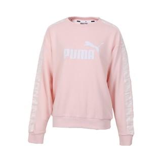 PUMA 彪马 女士圆领套头长袖针织衫58380717 粉色M