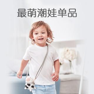 Baby Kingdom 婴儿吸管杯宝宝学饮水杯 黑色吸管杯+灰色背带