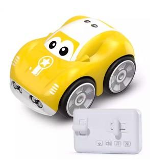 DEERC儿童玩具车 手控感应遥控汽车 男孩女孩遥控车 智能跟随轨迹特技车 音乐可充电创意礼物黄色DE33 *2件