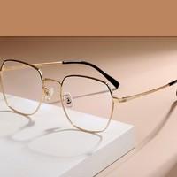 LEMON 柠檬 39003 大方框多边眼镜框+防蓝光无度数镜片