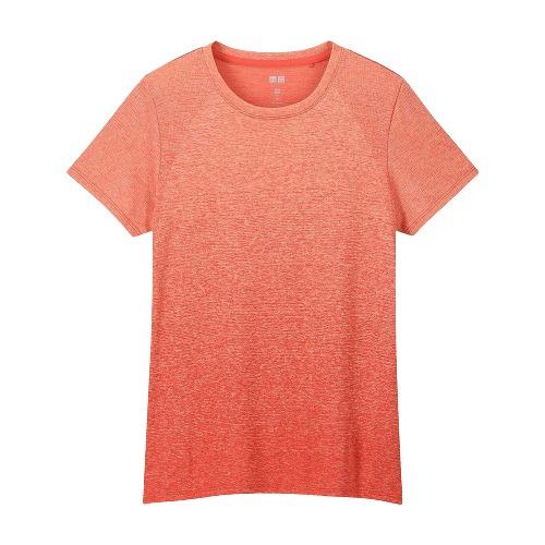 UNIQLO 优衣库 女士圆领纯棉休闲运动短T恤424169 玫红色M