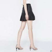DAZZLE 地素 2F2S2152A 车线条纹A字短裙