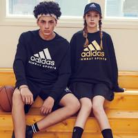【硬核】adidas阿迪达斯情侣款 2020年换季新款经典LOGO运动休闲套头卫衣 连帽卫衣