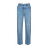 Levi's 李维斯 Ribcage系列女士复古破洞高腰直筒牛仔长裤72693-0035