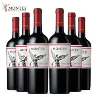 MONTES 蒙特斯 经典系列 赤霞珠 红葡萄酒 750ml*6 整箱装