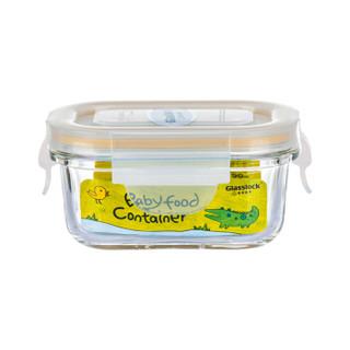 京东PLUS会员 : Glasslock baby 婴儿玻璃辅食盒 宝宝辅食碗 长方形150ml *7件