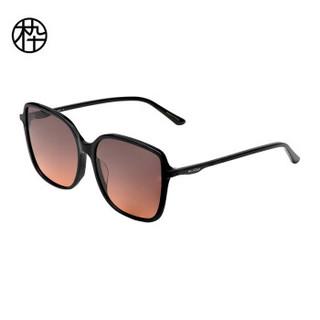 木九十2020新品太阳镜 轻薄方形板材大框 板材细腻舒适 简约百搭男女墨镜 MJ101SF575 BKC3