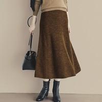 UNIQLO 优衣库 U系列 420989 女士羊毛混纺喇叭裙