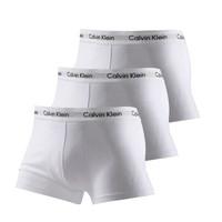 卡尔文·克莱恩(Calvin Klein)CK 男士平角内裤套装套盒 白色三条装 U2664G 100 L