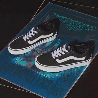 Vans范斯 运动休闲系列 Ward帆布鞋板鞋低帮女子黑色新款官方 黑色 36.5
