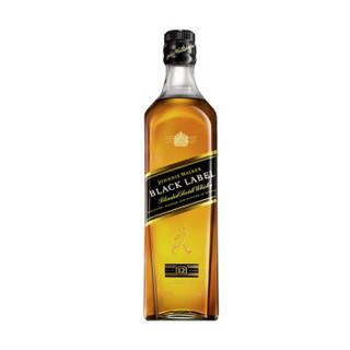 尊尼获加(Johnnie Walker)洋酒 威士忌 黑方 黑牌 12年调配型苏格兰威士忌500ml(不带盒) *3件
