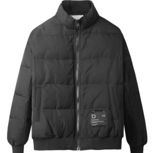 MARK FAIRWHALE马克华菲 男士立领工装风短款羽绒服718415017016311 纯黑XL