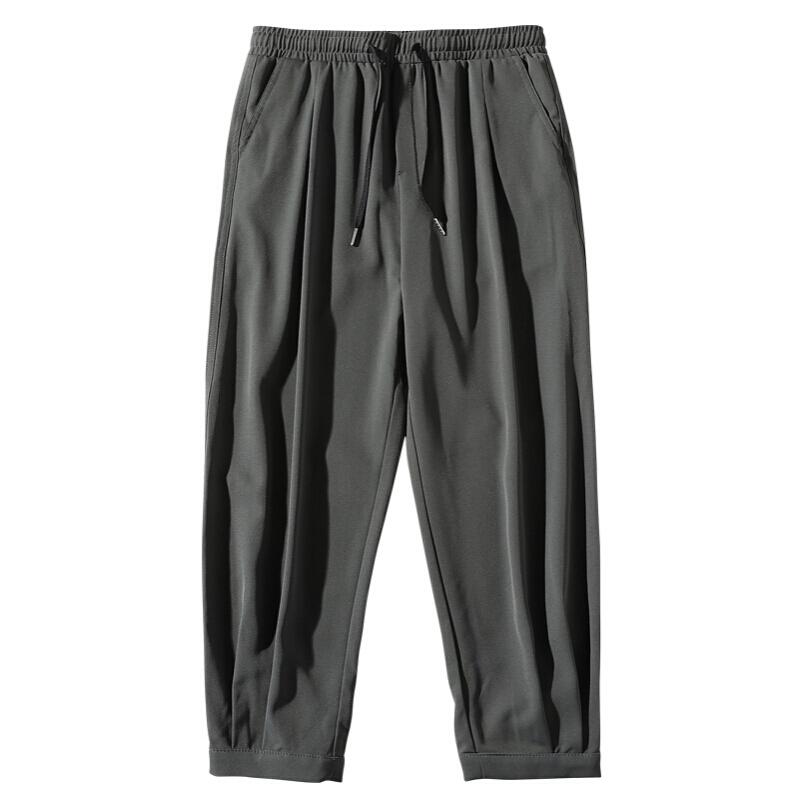 Fuguiniao 富贵鸟 男士冰感透气哈伦休闲九分裤A102-DS950 深灰色M