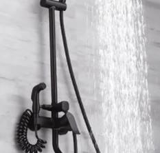 日丰 RF-98401HW 四功能增压淋浴花洒套装 A款 雅黑