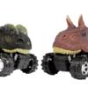 甄萌 仿真恐龙回力惯性车  2只装随机
