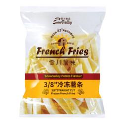 雪川食品 薯味 3/8冷冻粗薯条 500g *2件