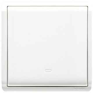 Schneider Electric 施耐德 丰尚系列 带荧光指示单控开关 白色 一开 *3件