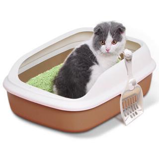 敞开式猫厕所  半封闭猫砂盆(小号)+猫砂铲