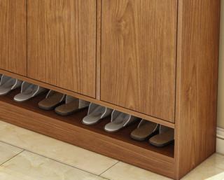 普派 多层收纳鞋柜 樱桃木色 120cm