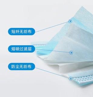 新世家族 医用外科口罩 蓝色100片