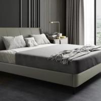 聚划算百亿补贴 : SLEEMON 喜临门 莱可 现代简约真皮床+自然醒加硬2S床垫 1.5/1.8m
