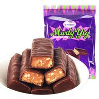 国产紫皮糖俄罗斯风味夹心巧克力糖果批发休闲零食3斤装