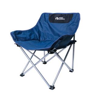 牧高笛(MOBIGARDEN) 户外折叠椅便携靠背钓鱼凳子导演椅沙滩躺椅露营月亮椅 夜光蓝 *2件