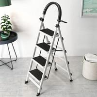 家用梯子人字梯折叠梯 室内梯子登高梯 白色四层