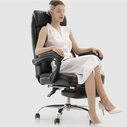 Hbada 黑白调 066BSJ 双层加厚皮艺电脑椅