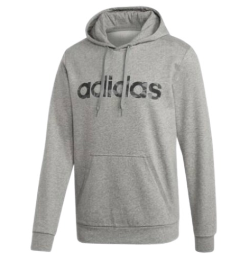 adidas 阿迪达斯 男士迷彩线性卫衣 Medium Grey Heather/Black S (Medium Grey Heather/Black、S)