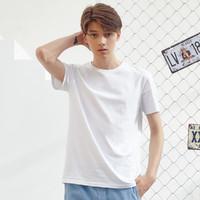 【男女同款】2020夏新款情侣装圆领纯色百搭多色短袖男式t恤