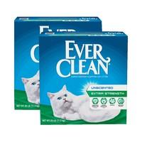EverClean 蓝钻 膨润土猫砂 绿标 25磅(11.34kg)*2件