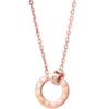 Zocai 佐卡伊珠宝 时光里的爱 C00246 女士钻石吊坠项链 0.5分 玫瑰金