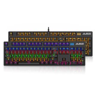 AJAZZ 黑爵 战警游戏真机械键盘青轴/黑轴 黑色白光版