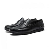 SATCHI 沙驰 51J3B715-WB 软底牛皮革豆豆鞋