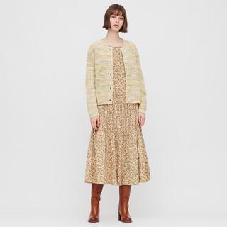 UNIQLO 优衣库 INES DE LA FRESSANGE合作系列女士撞色圆领长袖针织开衫432088
