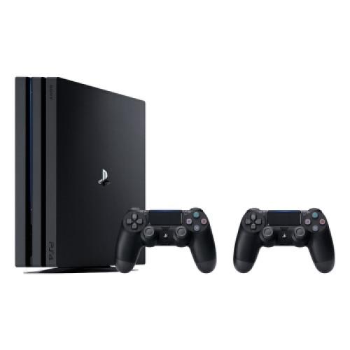 SONY 索尼 PlayStation 4 Pro+黑色双手柄 游戏机套装 1TB 黑色