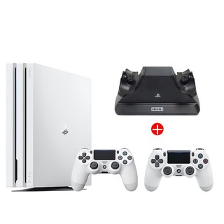 SONY 索尼 PlayStation 4 Pro+白色手柄 游戏机 1TB 白色