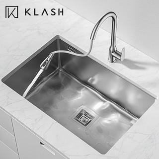 KLASH 佳勒仕 KSCB704301 304不锈钢手工加厚水槽*配抽拉龙头 (A款)