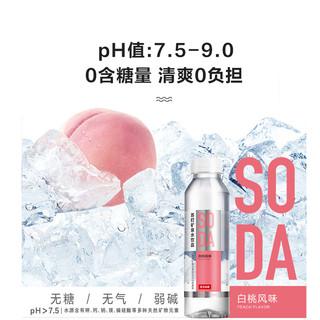 NONGFU SPRING 农夫山泉 苏打矿泉水饮品 白桃味 410ml*6瓶