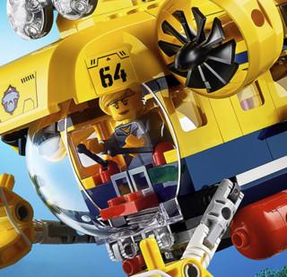 LEGO 乐高 City城市系列 60264 深海探索潜水艇