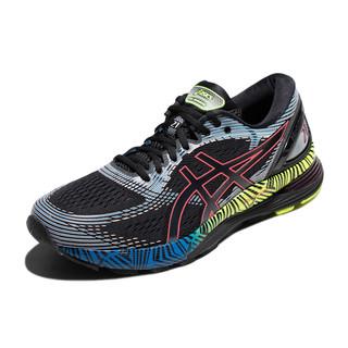 ASICS 亚瑟士 GEL-NIMBUS 21 男士跑鞋 1011A632 黑蓝黄 39.5