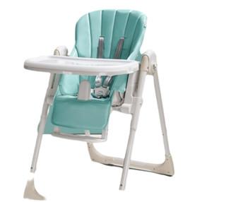 babycare儿童餐椅多功能便携式可折叠宝宝餐椅 绿色